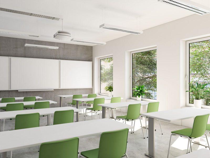 A clean empty classroom