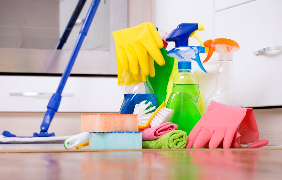 House cleaning materials