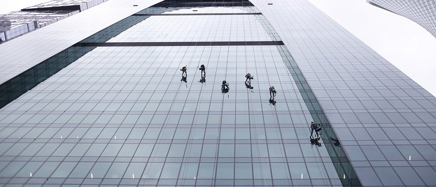 High-rise cleaning